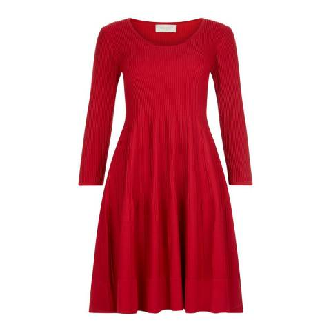 Hobbs London Red Marla Dress