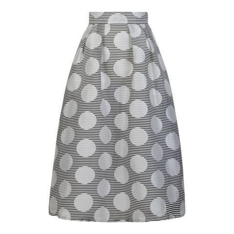Hobbs London White May Midi Skirt