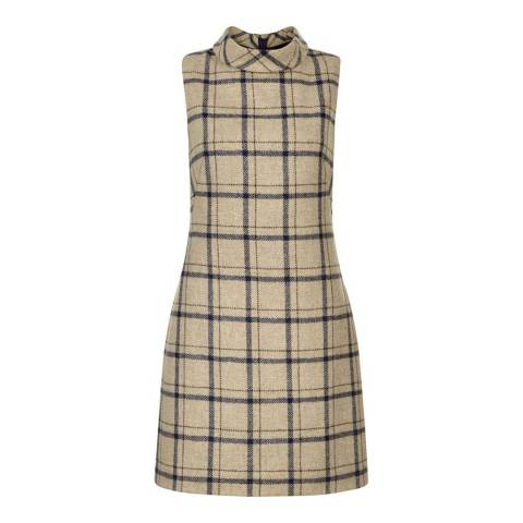 Hobbs London Camel Check Tiffany Dress