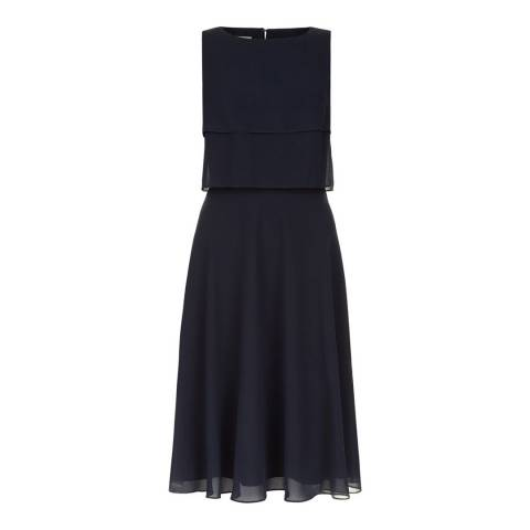 Hobbs London Navy Imogen Dress