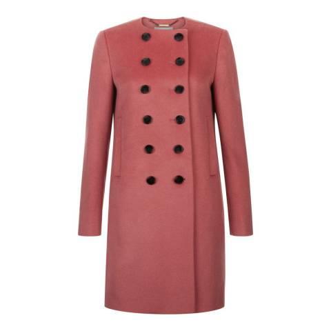 Hobbs London Rose Pink Roseanne Coat