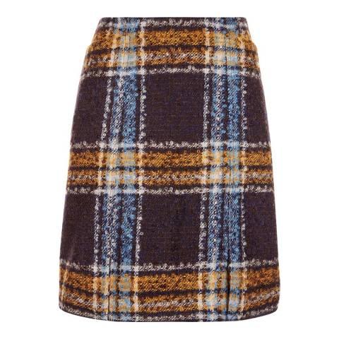 Hobbs London Navy Multi Briony Skirt