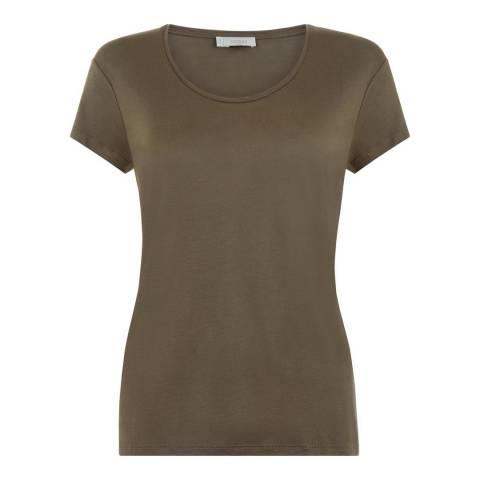 Hobbs London Khaki Belle T-Shirt