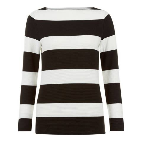 Hobbs London Black/Ivory Gracie Top
