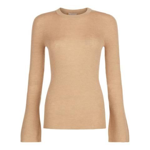 Hobbs London Camel Norah Sweater