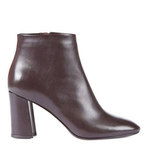 Hobbs London Chocolate Leather Hannah Ankle Boots