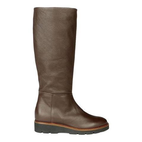 Hobbs London Brown Leather Thea Long Boots