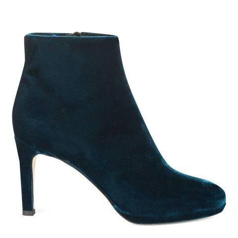 Hobbs London Teal Velvet Julietta Ankle Boots