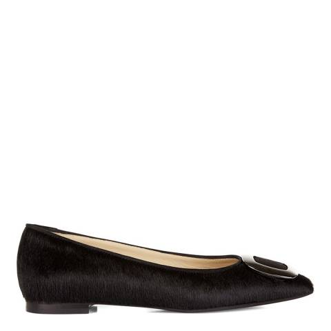 Hobbs London Black Pony Hair Charlotte Ballet Flats