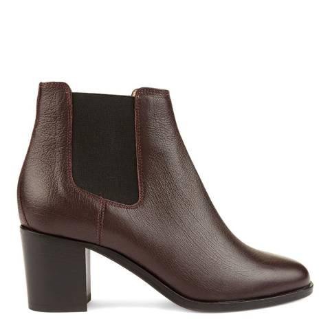 Hobbs London Dark Burgundy Leather Blake Ankle Boots