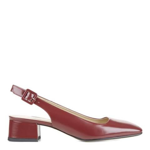 Hobbs London Dark Claret Leather Jess Slingback Shoes
