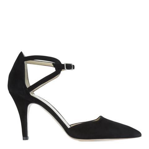 Hobbs London Black Suede Paloma Heeled Shoes