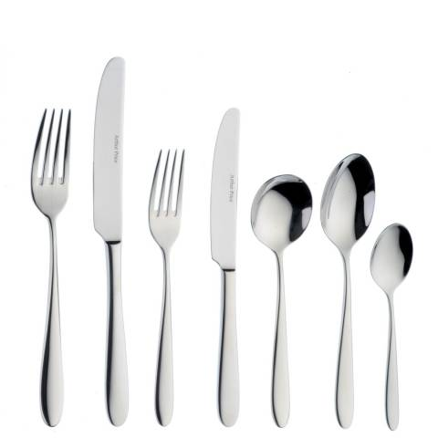 Arthur Price Willow 42 Piece Boxed Cutlery Set, 18/10 Stainless Steel