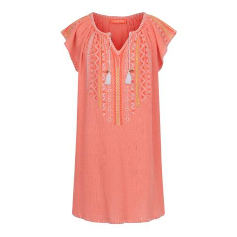 Sunuva Girls Sherbet Pink Cheesecloth Dress