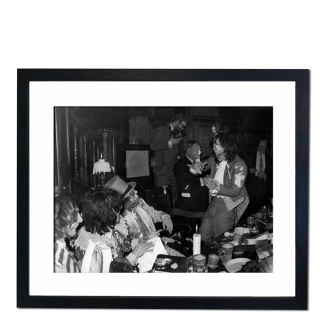 51 DNA Custard Pie Throwing at Beggars Banquet Given by The Rolling Stones Mick Jagger, Framed Art Print