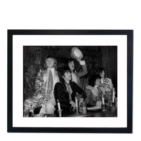51 DNA Custard Pie Throwing at Beggars Banquet Given by The Rolling Stones, Framed Art Print