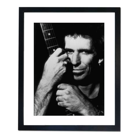 51 DNA Keith Richards with his Guitar, Framed Art Print