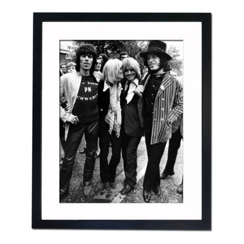 51 DNA The Rolling Stones in London 1968, Framed Art Print