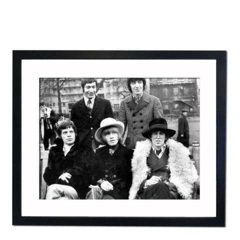 51 DNA The Rolling Stones Posing in London's Green Park 1967, Framed Art Print