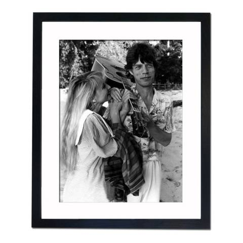 51 DNA Mick Jagger and Jerry Hall, Framed Art Print