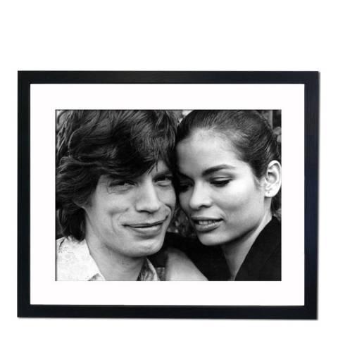 51 DNA Mick and Bianca Jagger Married 1971, Divorced 1979, Framed Art Print