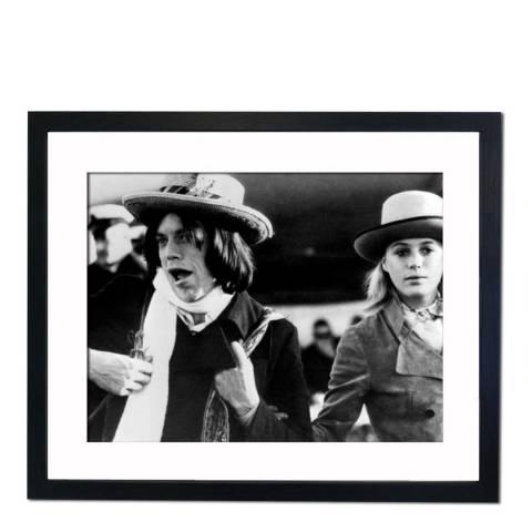 51 DNA Mick Jagger and Marianne Faithfull, Framed Art Print