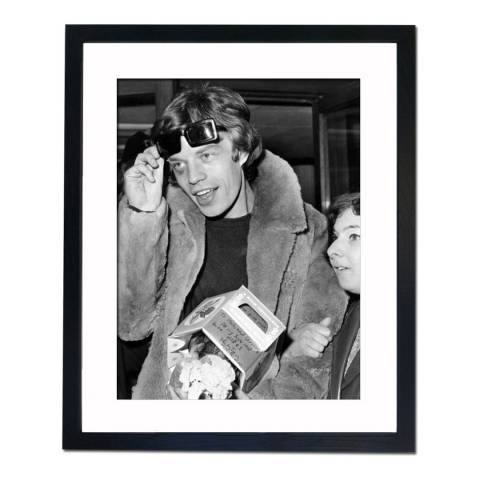 51 DNA Mick Jagger with a Black Eye in Paris 1966, Framed Art Print