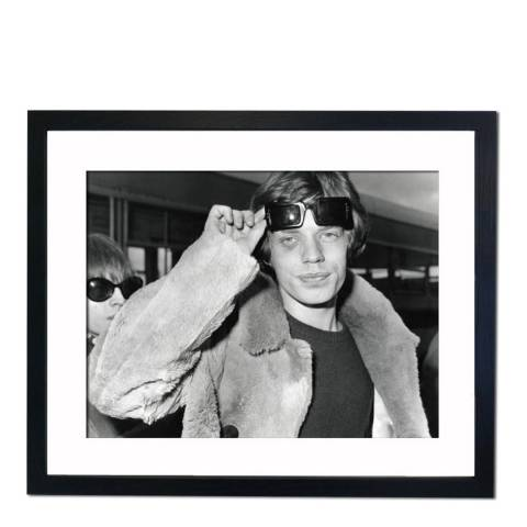 51 DNA Mick Jagger with a Black Eye 1966, Framed Art Print