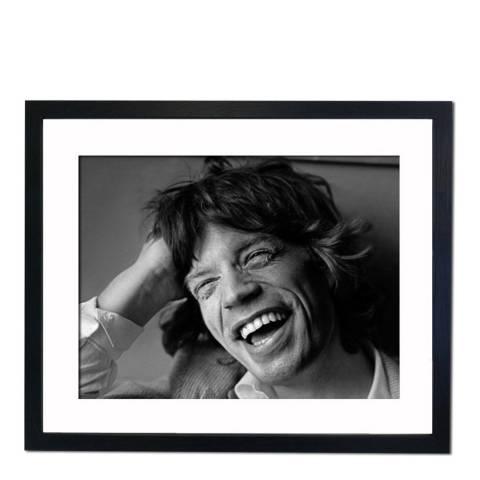 51 DNA Mick Jagger 1977, Framed Art Print
