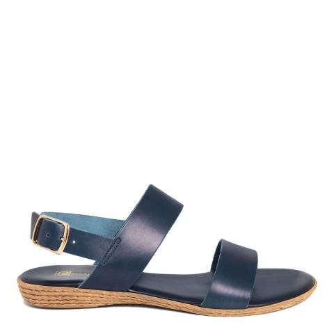 Gagliani Renzo Blue Leather Double Strap Sandals