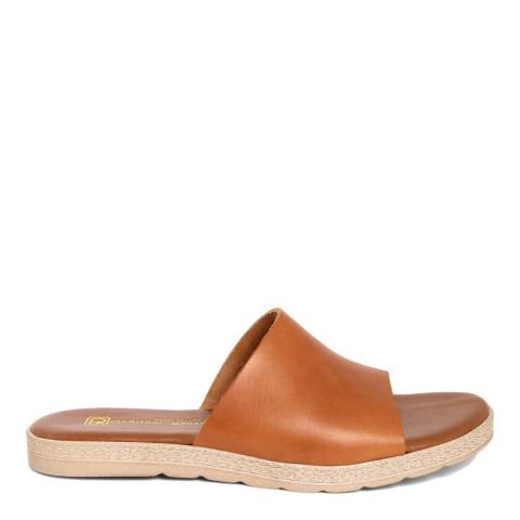Gagliani Renzo Tan Leather Slip On Sandals