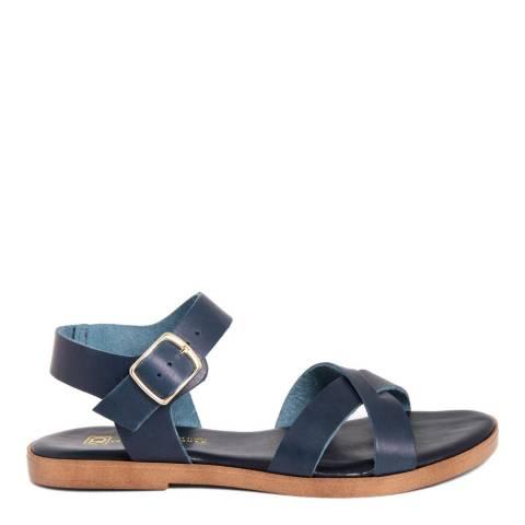 Gagliani Renzo Blue Leather Cross Strap Sandals