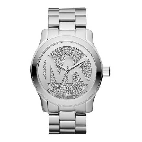Michael Kors Women's Silver Runway Watch