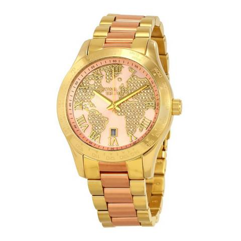 Michael Kors Women's Gold/Rose Gold Layton Watch