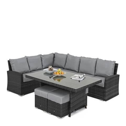 Maze Rattan Kingston Corner Sofa Dining Set, Grey