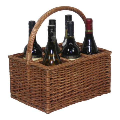 Perfect Picnic Double Steamed 6 Bottle Wine Carrier