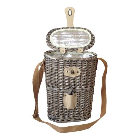 Perfect Picnic 2 Bottle Chilled Carry Basket