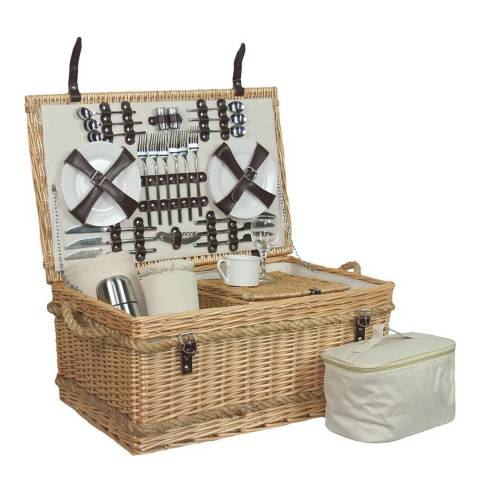 Perfect Picnic Rope Handled 6 Person Hamper