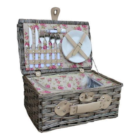 Perfect Picnic 2 Person Garden Rose Chilled Hamper