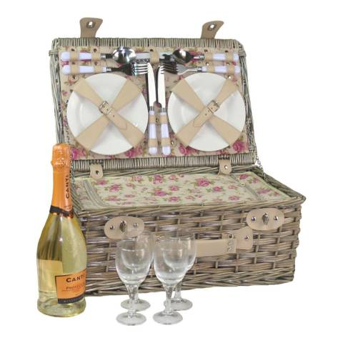 Perfect Picnic 4 Person Garden Rose Chilled Hamper