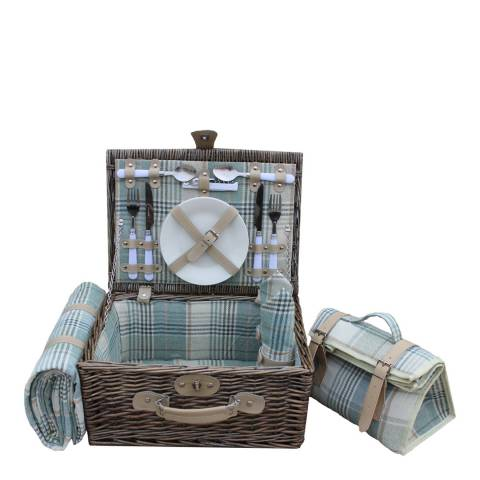 Perfect Picnic 2 Person Cream Tartan Hamper