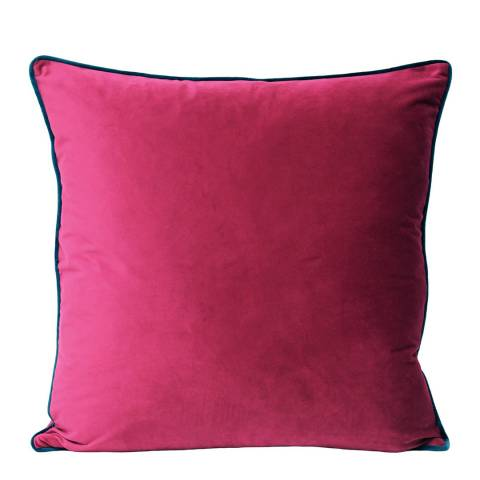 RIVA home Raspberry/Teal Bonbon Velvet Cushion 55x55cm