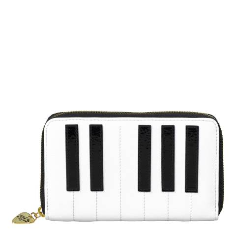 Tatty Devine Piano Keys Zip Around Purse