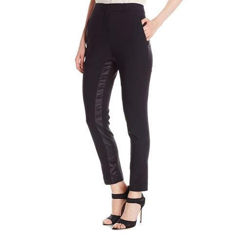 Halston Heritage  Black Wool Gabardine Slim Ankle Trousers