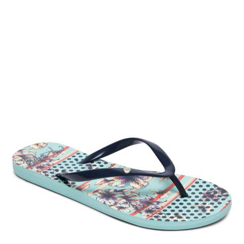 Roxy Light Blue Portofino II Flip Flops