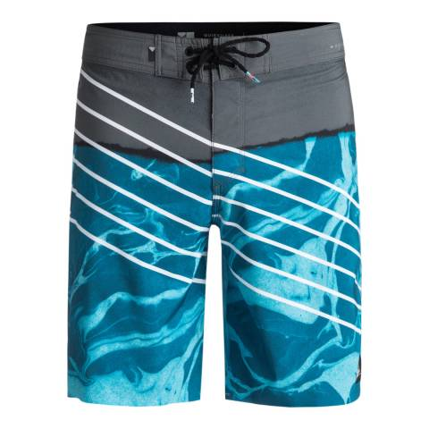 "Quiksilver Blue Highline Lava Slash 19"" Board Shorts"