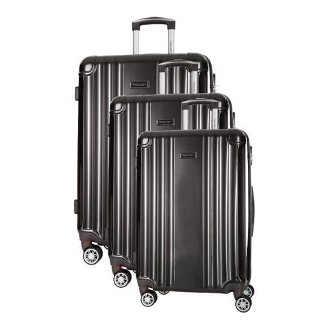 Travel One Grey Comilla Set Of Three 8 Wheeled Suitcases 46/56/66 cm