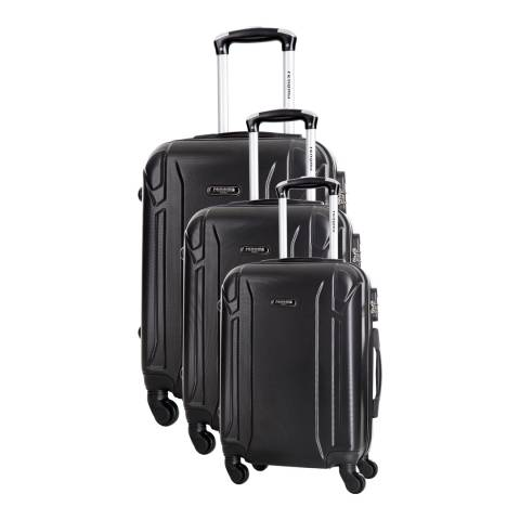 Renoma Black Levy Set Of Three 4 Wheeled Suitcases 50/60/70 cm