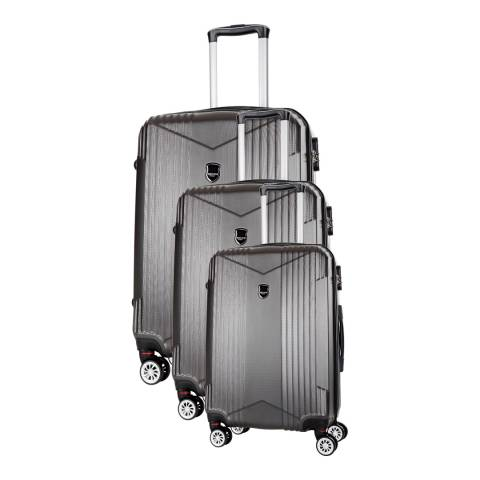 Renoma Grey Scheving Set Of Three 8 Wheeled Suitcases 50/60/70 cm