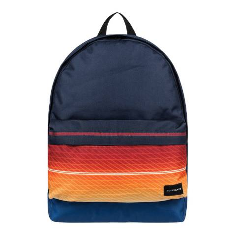 Quiksilver Navy/Orange Everyday Poster 25L Medium Backpack